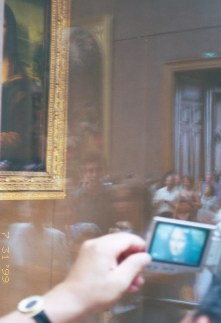 Mona Lisa and a camcorder monitor